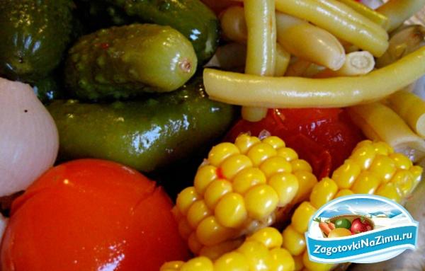 Рецепт салата на зиму сад и огород
