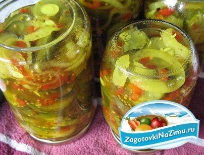 рецепты салатов без стерилизации на зиму из кабачков