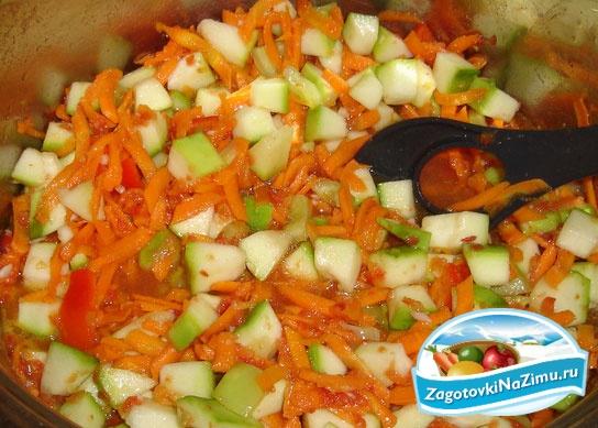 Ингредиенты: 1,5кг.кабачков(очищенных) 1,5кг.помидор 0,5кг.моркови 2шт...
