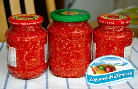 рецепт свежей аджики из помидор
