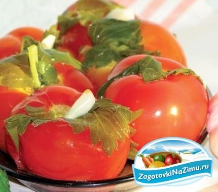 Быстрый рецепт засолки зелёных помидор