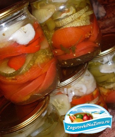 Консервированные салаты из помидоров
