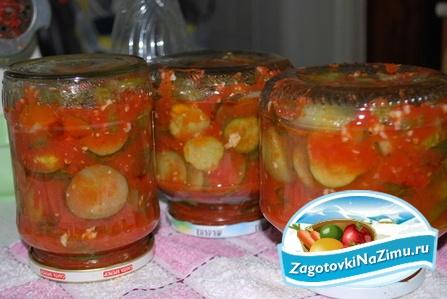 Огурцы в томатной заливке на зиму рецепты без стерилизации