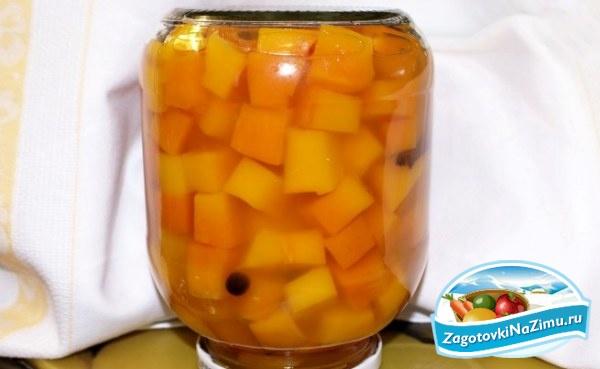 консервация тыквы на зиму рецепты с фото