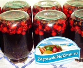 Компот из вишни и черной смородины на зиму