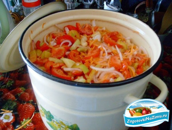 зимние заготовки салат с фасолью