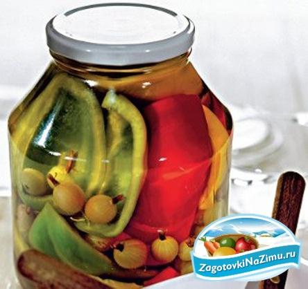 Консервация помидоров с огурцами на зиму рецепты