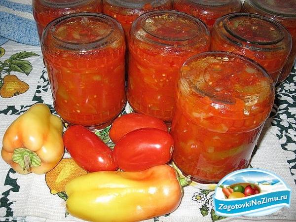 рецепты заготовок салатов из томатов