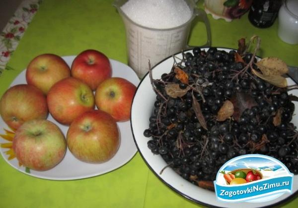 черноплодная рябина рецепты приготовления на зиму с фото