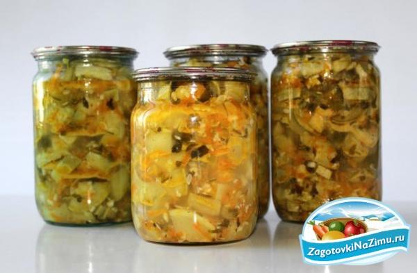 Салат из кабачков с капустой на зиму рецепты с
