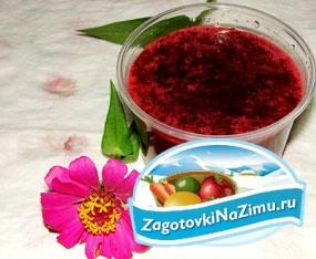 Пюре из сырой вишни. Рецепт с пошаговыми фото