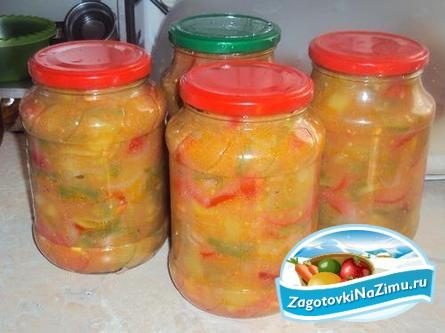 Салат с капустой на зиму Рецепт с фото