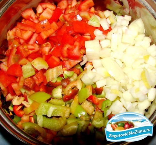 заготовки из помидор и перца на зиму золотые рецепты