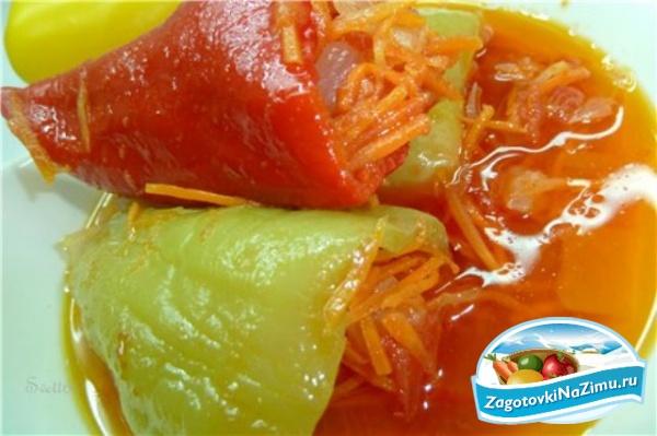 Рецепты на зиму - перец фаршированный