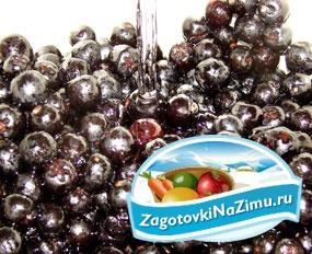 Варенье из черноплодной рябины с ароматом вишни. Рецепт с пошаговыми фото