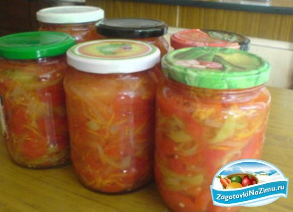 Салаты из помидоров с пошаговым