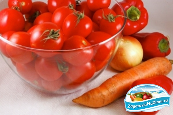 Салат с перцем помидорами луком морковкой