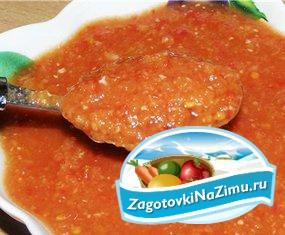 Рецепт аджики из помидор