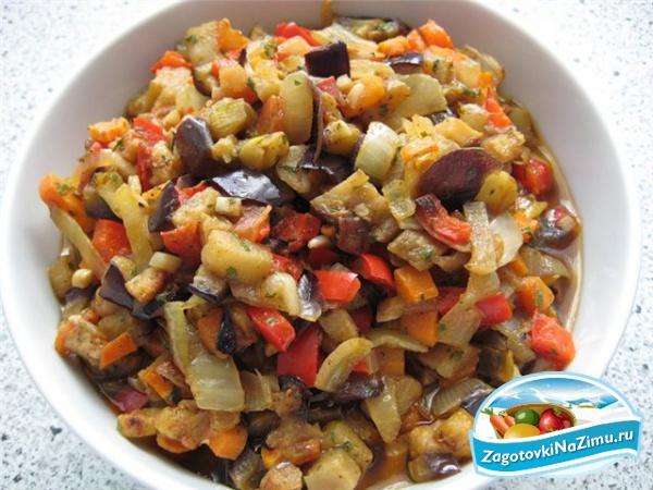 Овощное рагу баклажаны кабачки