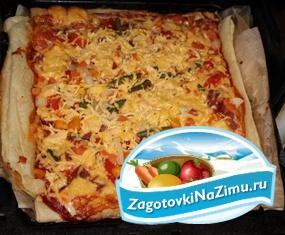 Отличный домашний рецепт пиццы