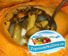 Засолка огурцов корнишонов в тыкве