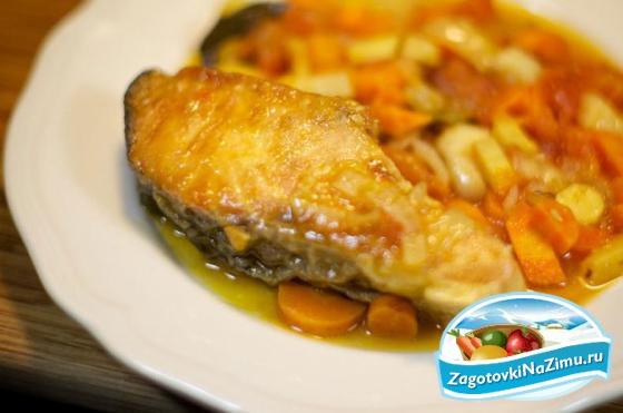Речная рыба с овощами в мультиварке рецепты с фото