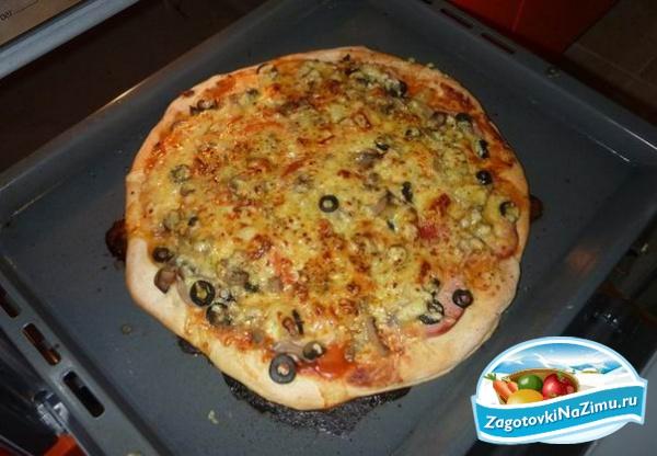 Рецепты пиццы в домашних условиях в духовке с фото - Sergts.Ru