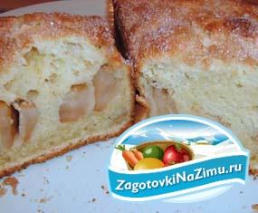 Яблочный пирог на кефире – отличный рецепт
