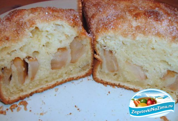 Пирог с яблоками с кефиром с фото пошагово в духовке
