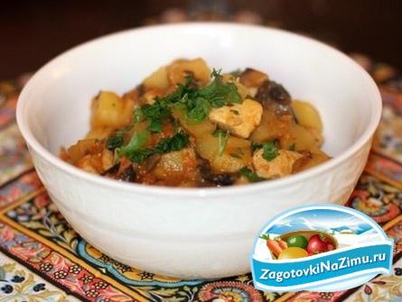 картошка с фаршем в мультиварке пошаговый рецепт