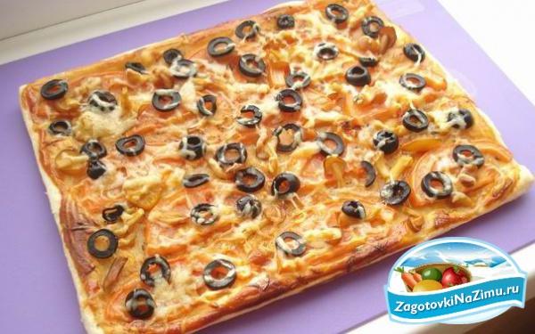 Как делать пиццу из слоеного теста