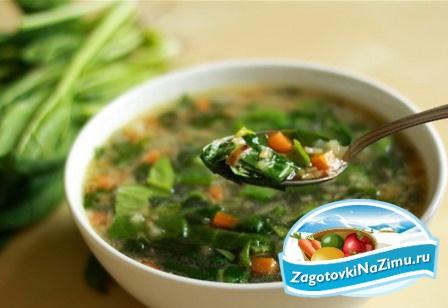 рецепт супа из щавеля консервированного рецепт