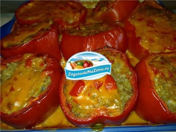 Фаршированный перец рецепт с фаршем пошагово