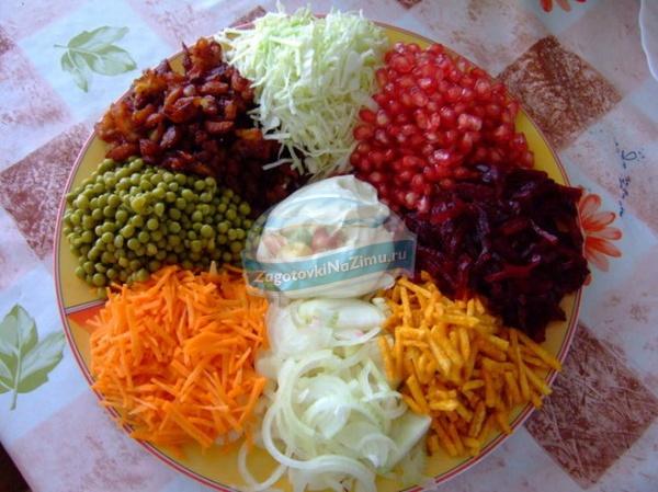 рецепты салата с фото на день рождения
