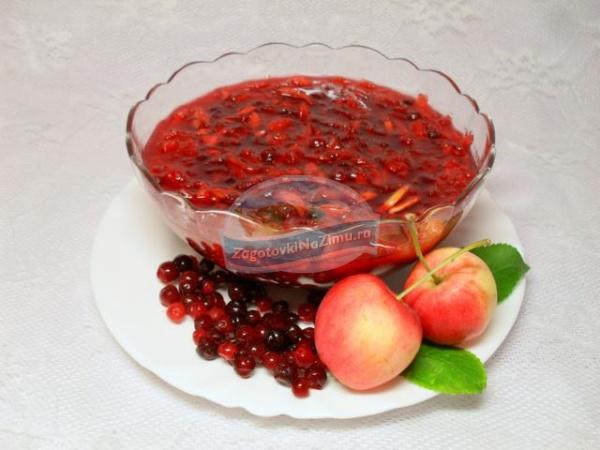 брусничное варенье с яблоками в хлебопечке