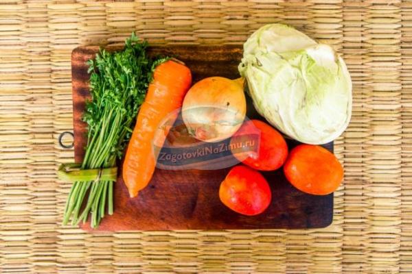 капуста морковь помидоры рецепт салата