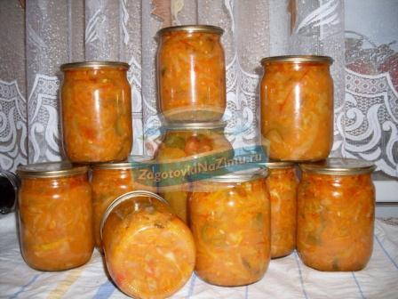 Рецепты из кабачков на зиму с пошаговыми фото