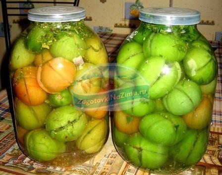 Зеленые помидоры острые рецепт с фото