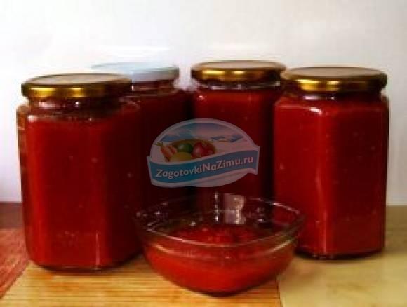 Простыеы томатной пасты на зиму