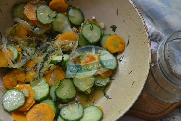 Салат огурцы с луком на зиму рецепты с