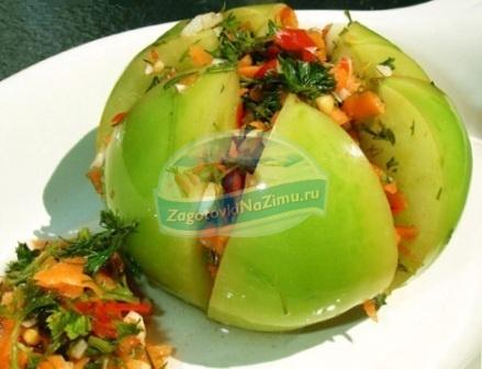 Острые зеленые помидоры на зиму: лучшие рецепты с фото