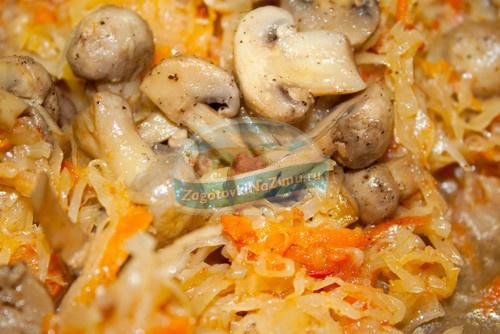 Солянка из капусты с грибами в мультиварке рецепты