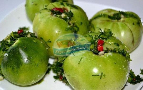 зеленые помидоры по — грузински. Популярные рецепты с фото