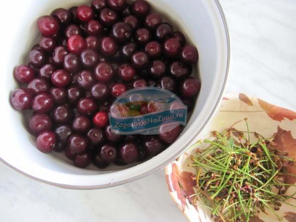 Рецепт варенья из вишни пятиминутка
