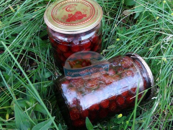 Пятиминутка из клубники рецепт с фото