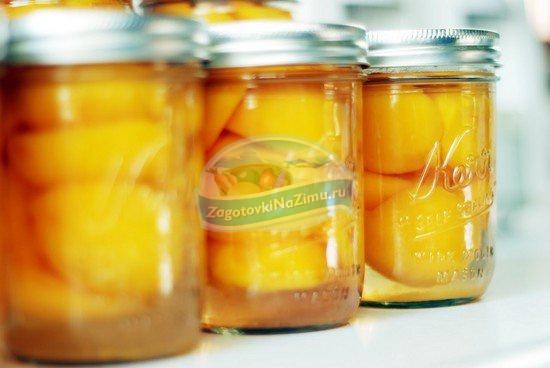 Компот из персиков: рецепты на зиму.