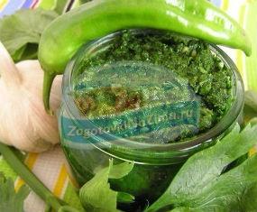 аджика из зеленых помидор на зиму: лучшие рецепты с фото