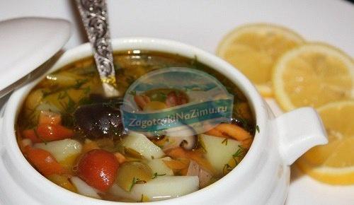 грибная солянка на зиму: рецепты с фото.