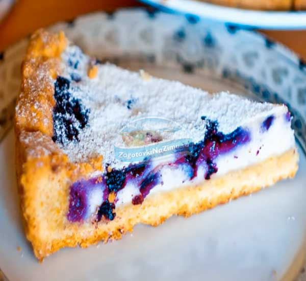 Пирог с черникой со сметаной рецепт