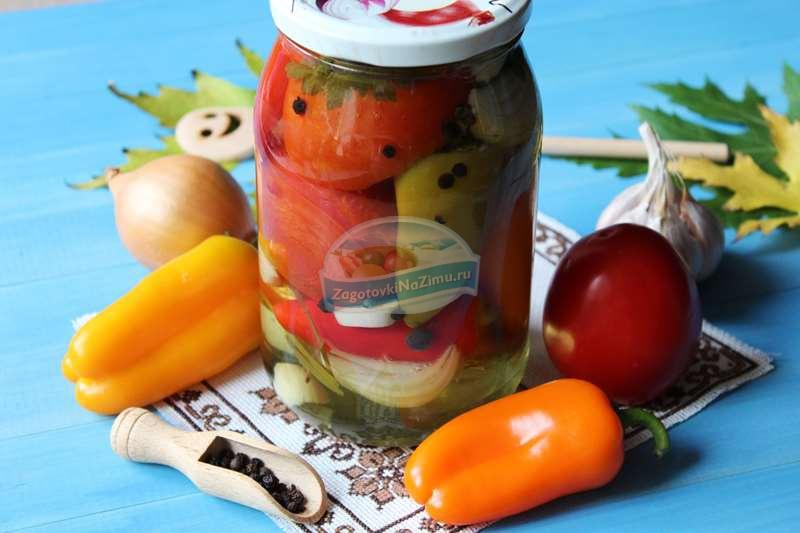 Маринованные помидоры по болгарскомуу